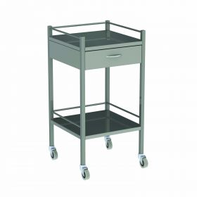 Instrument Trolley - 1 Drawer Stainless Steel Model AX 054