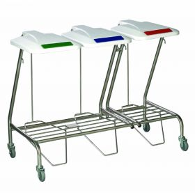 Triple Linen Skip - foot operated lid AX 307