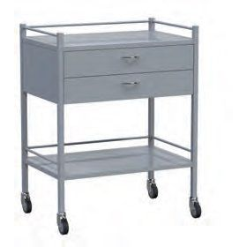 Instrument Trolley - 2 Drawer Powder Coated Model AX 336