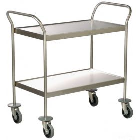 Clearing Trolley - 2 dished shelves AX 147