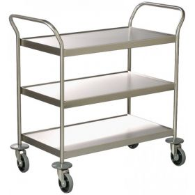 Clearing Trolley - 3 dished shelves AX 150